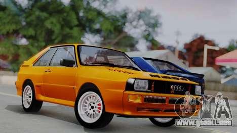 Audi Quattro Coupe 1983 para GTA San Andreas interior