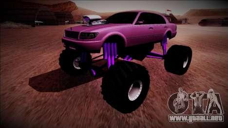 GTA 4 Washington Monster Truck para la visión correcta GTA San Andreas