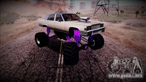 GTA 4 Emperor Monster Truck para visión interna GTA San Andreas
