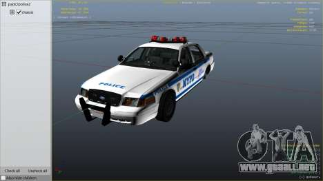 GTA 5 NYPD Ford CVPI HD vista lateral derecha