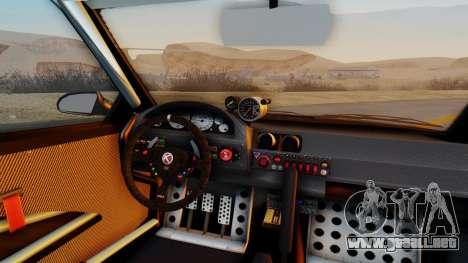 GTA 5 Karin Sultan RS Carbon IVF para GTA San Andreas vista hacia atrás