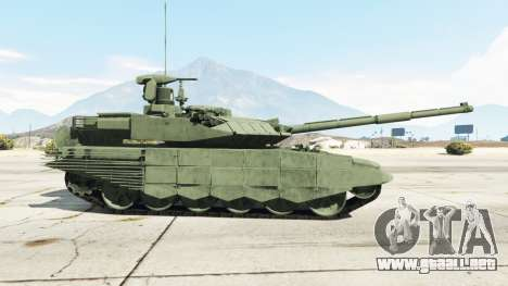 GTA 5 T-90MS vista lateral izquierda trasera