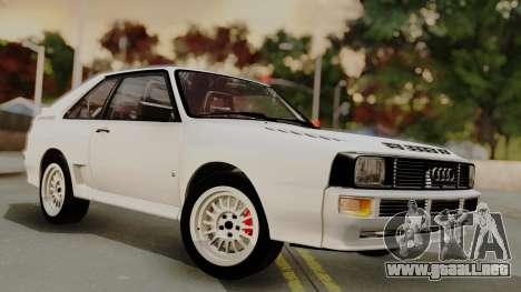 Audi Quattro Coupe 1983 para la vista superior GTA San Andreas