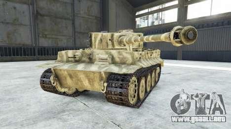 GTA 5 Panzerkampfwagen VI Ausf. E Tiger vista lateral derecha
