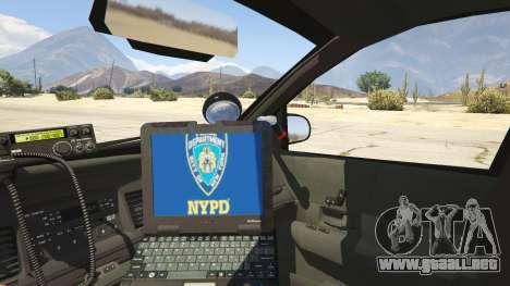 GTA 5 NYPD Ford CVPI HD vista lateral trasera derecha