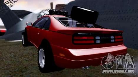 Nissan 300ZX Rusty Rebel para GTA San Andreas vista posterior izquierda