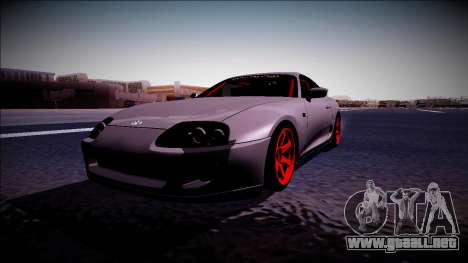 Toyota Supra Drift Monster Energy para la visión correcta GTA San Andreas