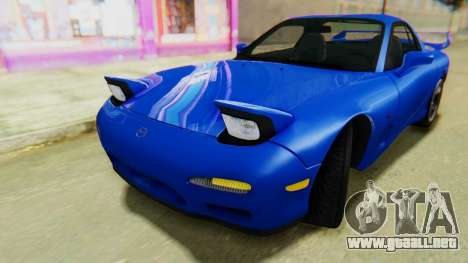 Mazda RX-7 1993 v1.1 para la visión correcta GTA San Andreas