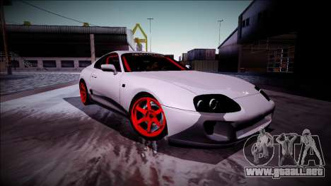 Toyota Supra Drift Monster Energy para GTA San Andreas vista hacia atrás