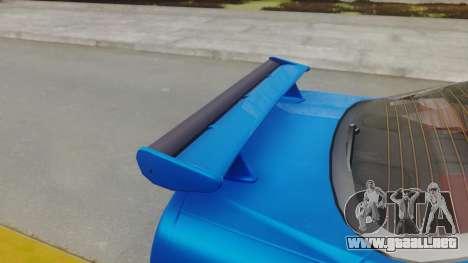 Nissan Skyline GT-R 2005 Z-Tune para GTA San Andreas vista hacia atrás