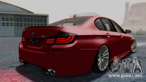BMW M5 2012 Stance Edition para GTA San Andreas left