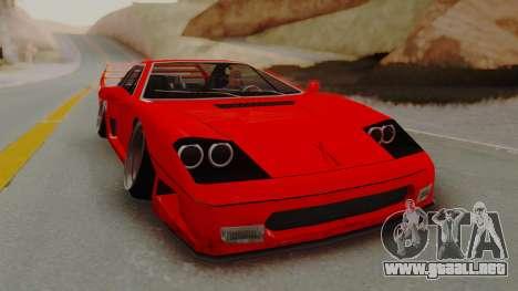 Turismo Saber X para GTA San Andreas vista posterior izquierda