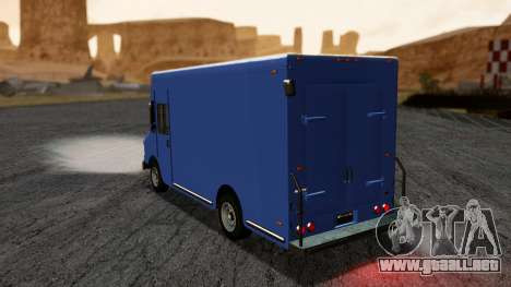 Boxville from GTA 5 without Dirt para GTA San Andreas left