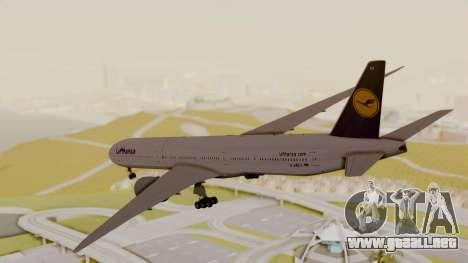 Boeing 777-9x Deutsche Lufthansa para la visión correcta GTA San Andreas