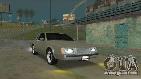 Willard Majestic para GTA San Andreas vista hacia atrás