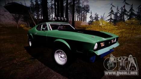 1971 Ford Mustang Rusty Rebel para la visión correcta GTA San Andreas