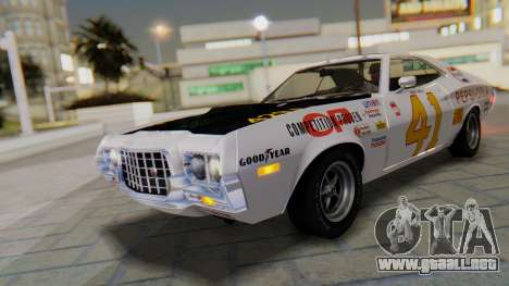 Ford Gran Torino Sport SportsRoof (63R) 1972 PJ1 para vista lateral GTA San Andreas
