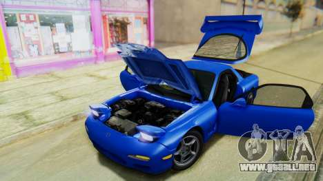 Mazda RX-7 1993 v1.1 para vista inferior GTA San Andreas