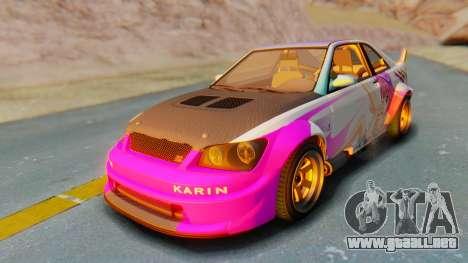 GTA 5 Karin Sultan RS Carbon IVF para la vista superior GTA San Andreas
