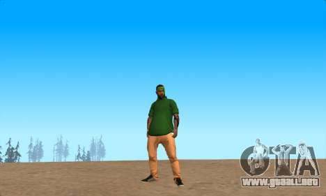 La piel Pak Grove de Nunca para GTA San Andreas segunda pantalla