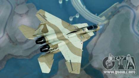 McDonnell Douglas F-15E Aggressor Desert para GTA San Andreas left