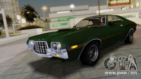 Ford Gran Torino Sport SportsRoof (63R) 1972 PJ1 para GTA San Andreas interior