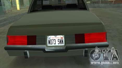 Willard Majestic para la visión correcta GTA San Andreas