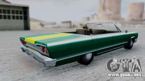 Savanna F&F4 Chevy PJ para GTA San Andreas vista posterior izquierda