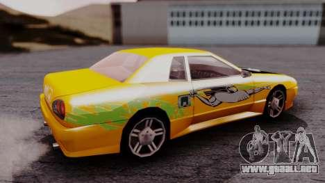Elegy F&F Supra PJ para GTA San Andreas vista posterior izquierda