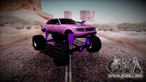GTA 4 Washington Monster Truck para GTA San Andreas vista hacia atrás