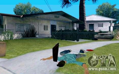 De vidrio con mango para GTA San Andreas tercera pantalla