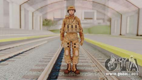 US Army Multicam Soldier from Alpha Protocol para GTA San Andreas segunda pantalla