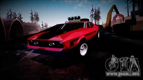 1971 Ford Mustang Rusty Rebel para vista inferior GTA San Andreas