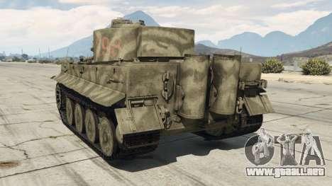 GTA 5 Panzerkampfwagen VI Ausf. E Tiger vista lateral izquierda trasera