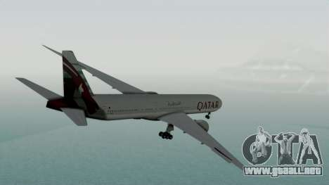Boeing 777-9x Qatar Airways para GTA San Andreas left