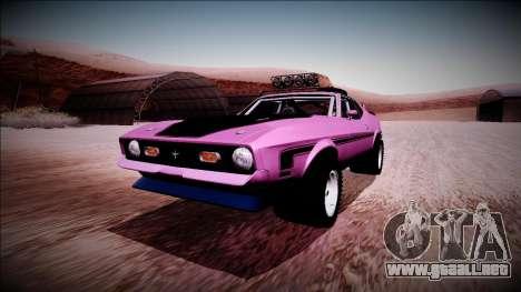 1971 Ford Mustang Rusty Rebel para GTA San Andreas