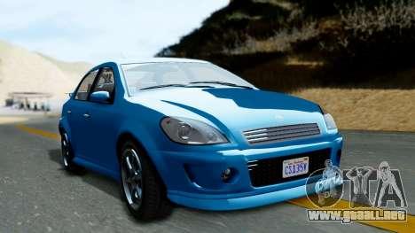 GTA 5 Declasse Premier para GTA San Andreas vista posterior izquierda
