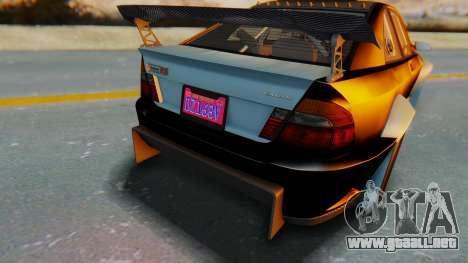 GTA 5 Karin Sultan RS Carbon IVF para vista lateral GTA San Andreas