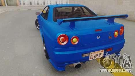 Nissan Skyline GT-R 2005 Z-Tune para GTA San Andreas left