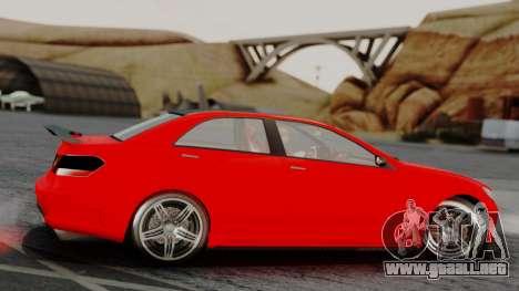 GTA 5 Benefactor Schafter V12 IVF para GTA San Andreas vista posterior izquierda