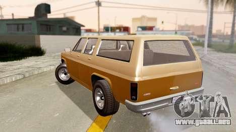 GTA 5 Declasse Rancher XL para GTA San Andreas left