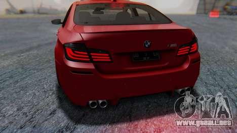 BMW M5 2012 Stance Edition para el motor de GTA San Andreas