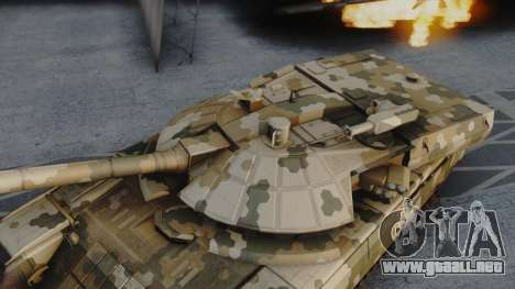 T-100 Varsuk para GTA San Andreas vista posterior izquierda