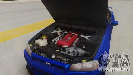 Nissan Skyline GT-R 2005 Z-Tune Nismo Prototype para GTA San Andreas vista hacia atrás