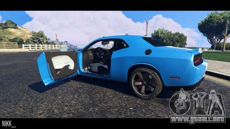 GTA 5 Dodge Challenger 2015 vista trasera