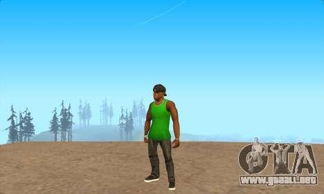 La piel Pak Grove de Nunca para GTA San Andreas sucesivamente de pantalla