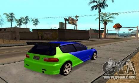 Honda Civic EG6 Tunable para la visión correcta GTA San Andreas