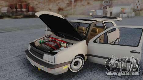 Volkswagen Golf Mk3 para visión interna GTA San Andreas