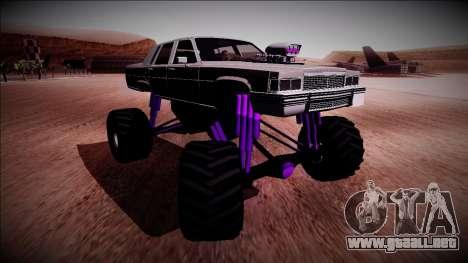 GTA 4 Emperor Monster Truck para la visión correcta GTA San Andreas