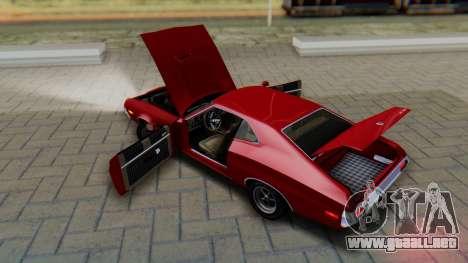 Ford Gran Torino Sport SportsRoof (63R) 1972 PJ1 para visión interna GTA San Andreas